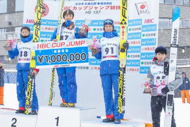 【HBCジャンプ】表彰式男子1-4位